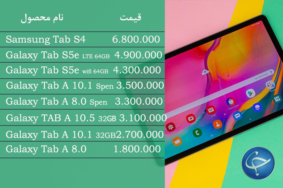 آخرین قیمت انواع تبلت در بازار (تاریخ 31 شهریور) + جدول