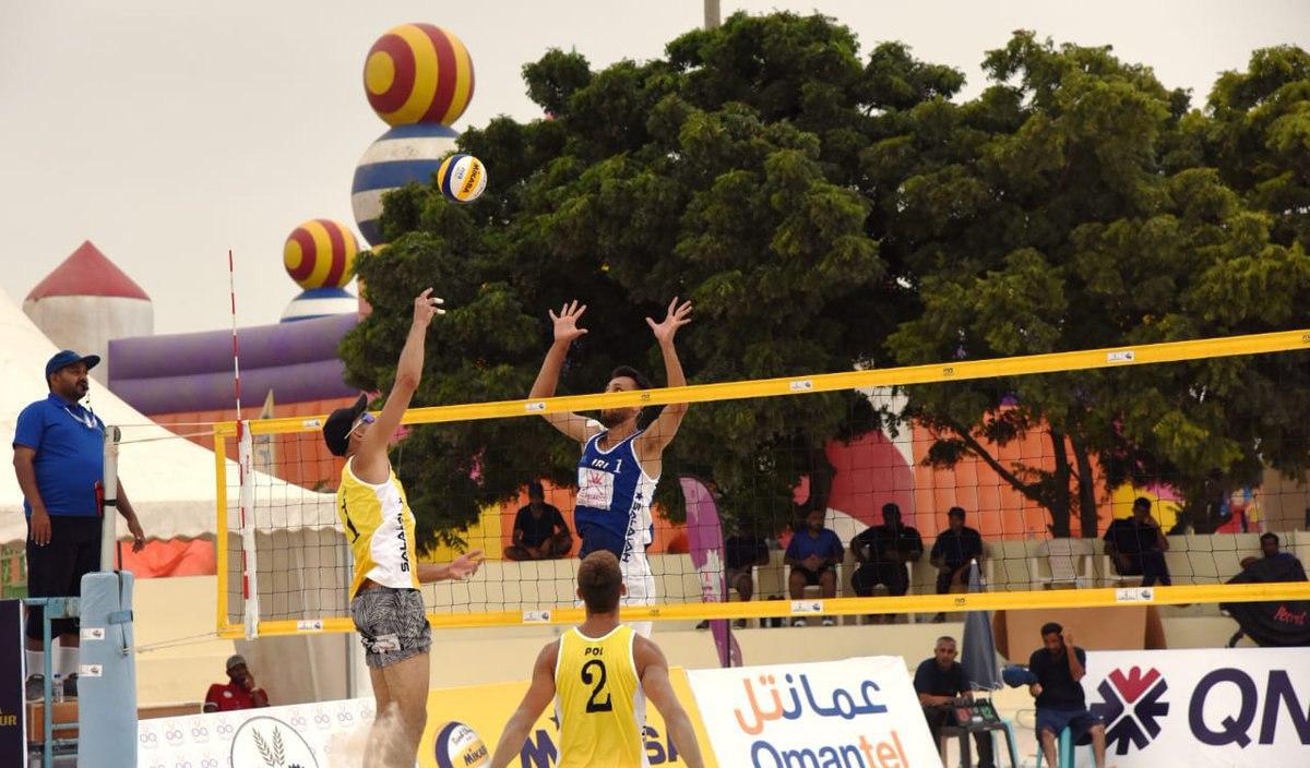 والیبال ساحلی ایران به عنوان پنجم تور عمان رسید