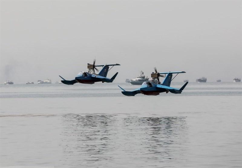 امنیت در مرزهای آبی و هوایی کشور با قایق پرنده باور + فیلم و تصاویر