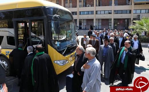 ورود بیش از ۹۰ نفر از پیر غلامان و خادمان حسینی