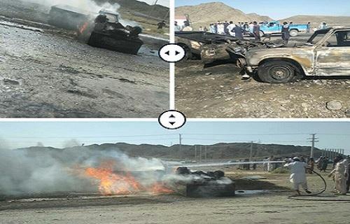 حادثه رانندگی مرگبار در جنوب سیستان وبلوچستان /۲ نفر در شعلههای آتش سوختند
