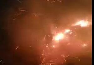 آتشسوزی جنگلهای الوار در اندیمشک + فیلم