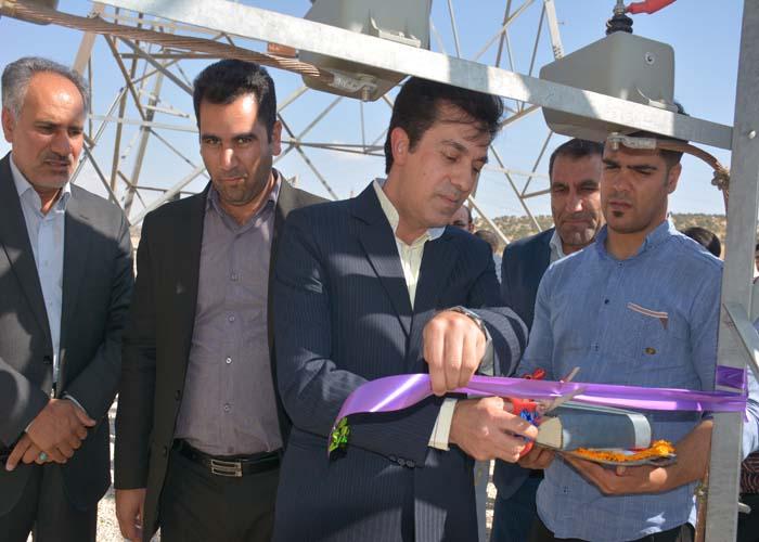 افتتاح پروژه های برق رسانی در قصر شیرین و گیلانغرب