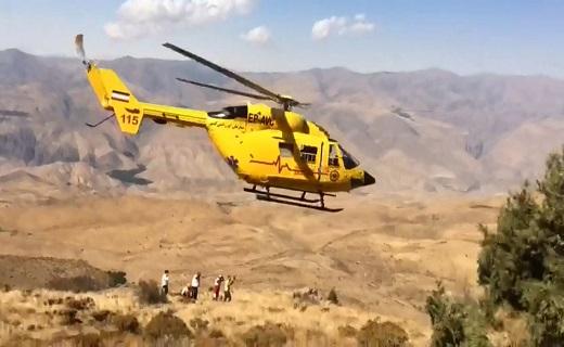 سقوط پاراگلایدر سوار در ارتفاعات دستجرد الموت غربی