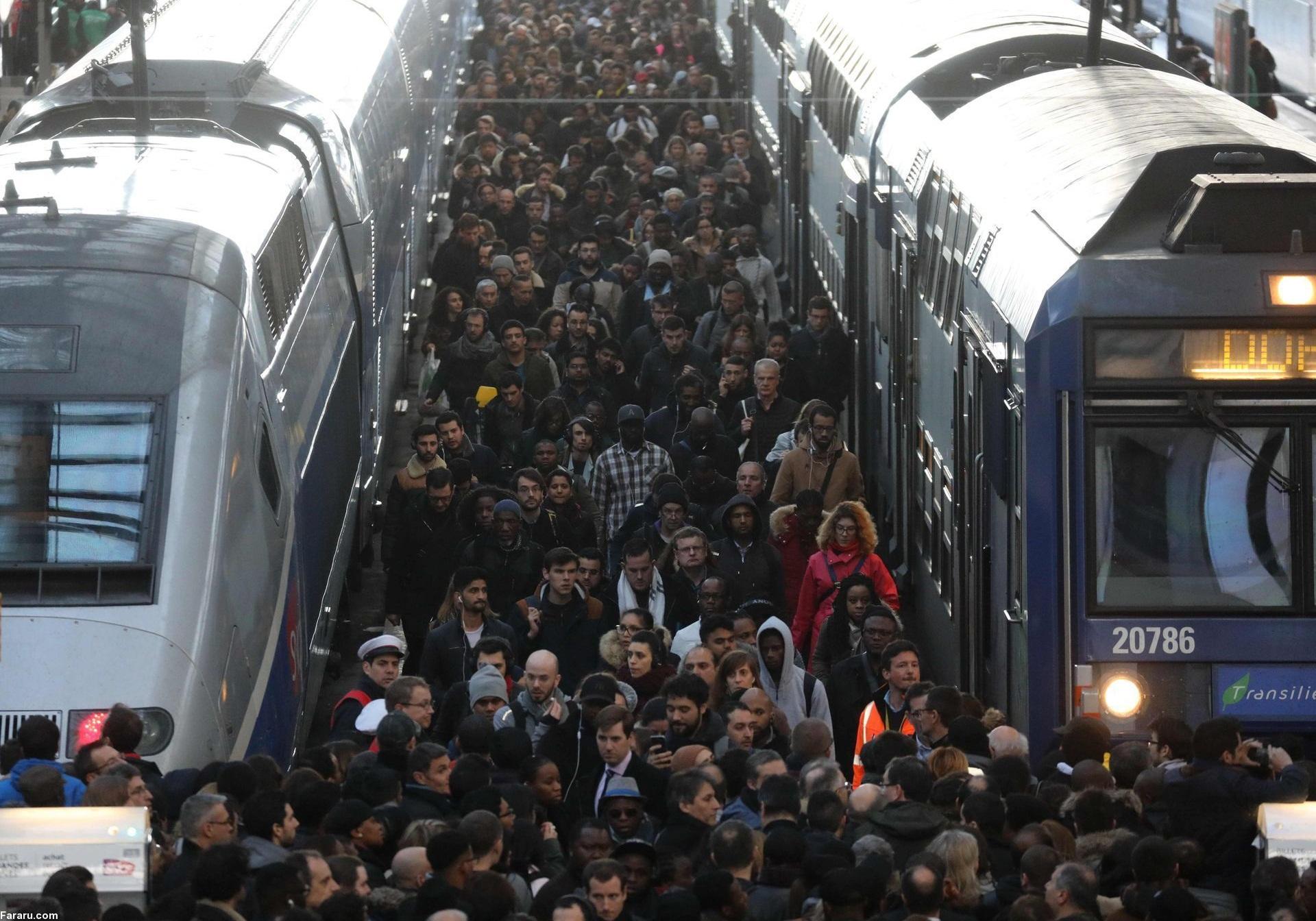 اعتصاب دوباره کارکنان راه آهن فرانسه در پاریس