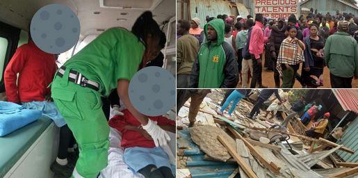 بیش از ۶ کشته و زخمی در حادثه ریزش دیوارهای کلاس درس در کنیا+تصاویر