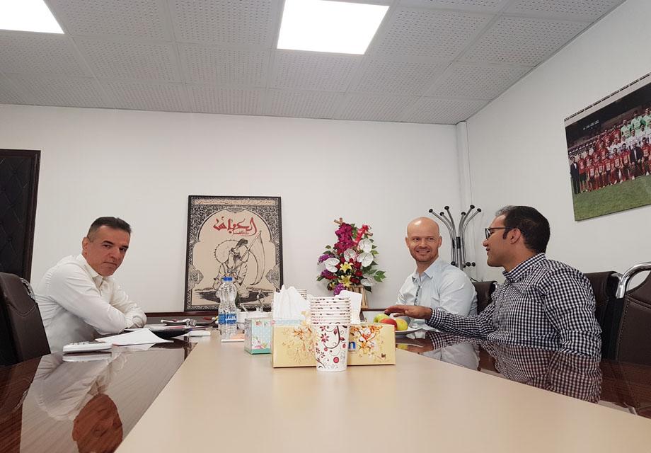 مدیر عامل پرسپولیس با مدیر فنی آکادمی فوتبال رئال بتیس دیدار کرد