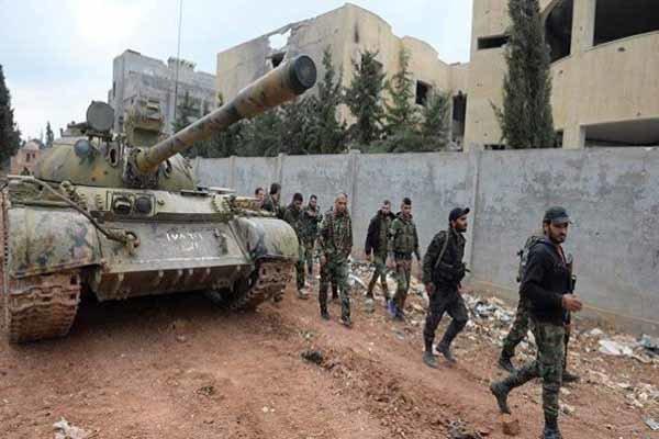 کشف سلاح و مهمات تروریستها در استان حماه سوریه