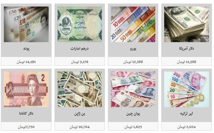 جزئیات نرخ ارز در ۹۸/۷/۱۰/ دلار ۱۱ هزار و ۴۳۹ تومان