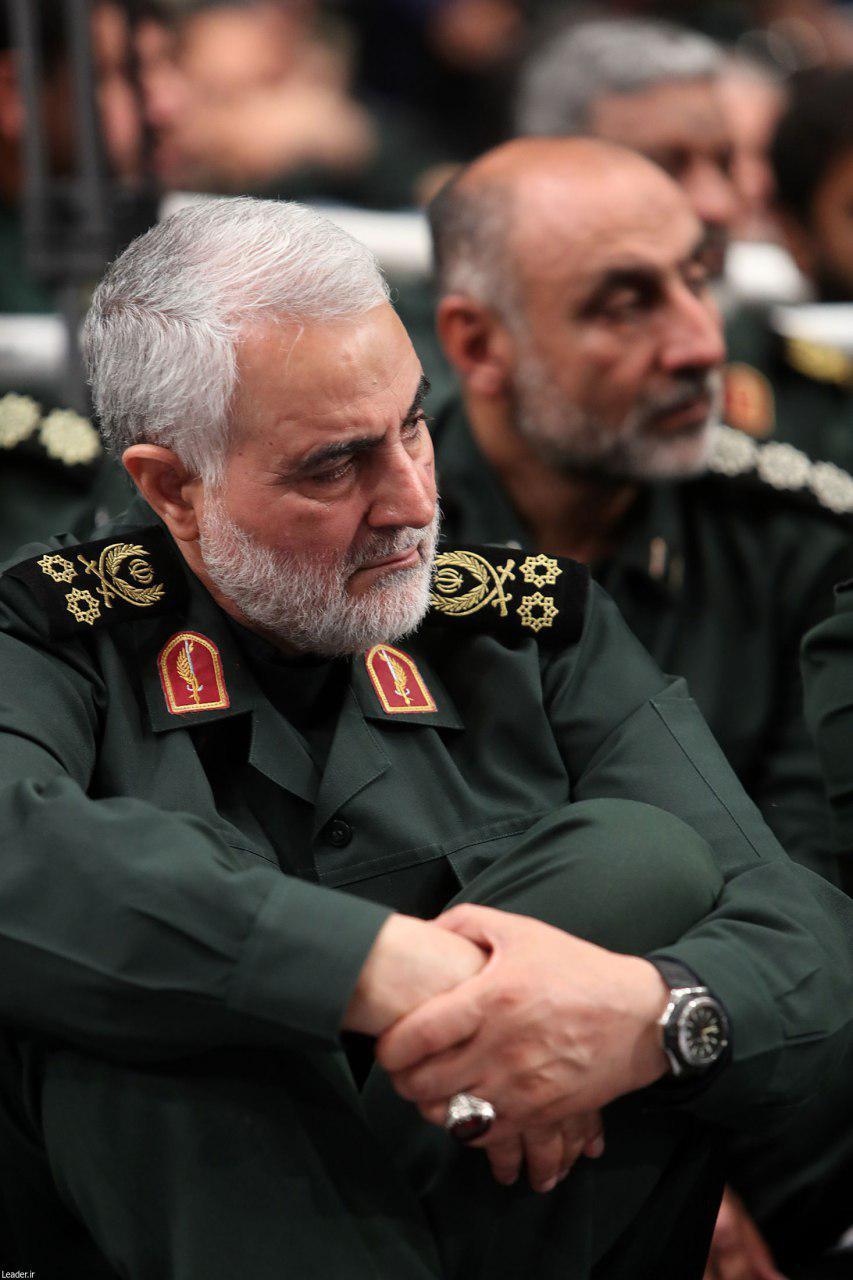 حضور سردار سلیمانی در دیدار امروز فرماندهان سپاه با رهبر معظم انقلاب + تصاویر