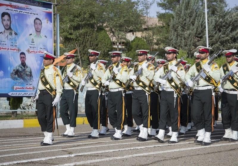 صبحگاه مشترک نیروهای مسلح استان کردستان برگزار شد