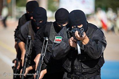 صبحگاه مشترک ناجا در همدان