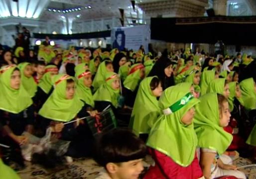 حضور پرشور هزاران مادر و فرزند در همایش سه سالههای حسینی + فیلم