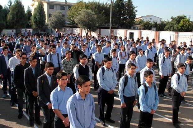 قرائت پیام مهر در مدارس همدان