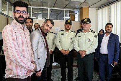 بازدید رئیس پلیس پیشگیری تهران از باشگاه خبرنگاران