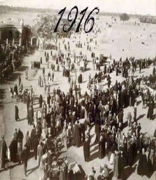 قدیمیترین عکس از پیادهروی اربعین در سال ۱۹۱۶ میلادی //// دپوویی