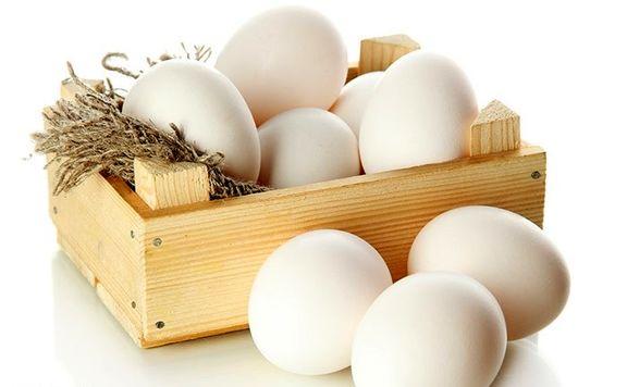 انواع تخم مرغ داخلی پوسته سفید در غرفه های تره بار + قیمت