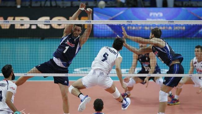 تیم ملی والیبال ایران . آمریکا /