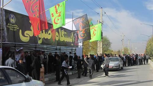 برپایی موکب های استان کرمانشاه در خاک عراق