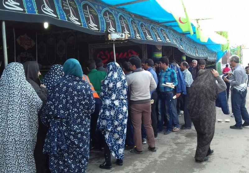 با زائران در مرزهای چذابه و شلمچه؛مرز چذابه، دروازه خروج ۳۰۰ هزار زائر اربعین حسینی/ استقرار مواکب در بخش عراقی و ایرانی شلمچه +تصاویر