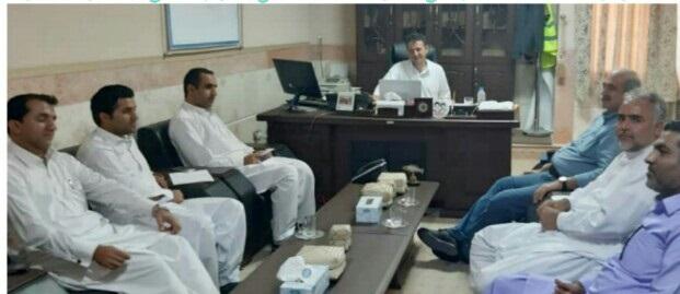دیدار رئیس کارخانه سیمان مکران شهرستان سرباز با فرماندار