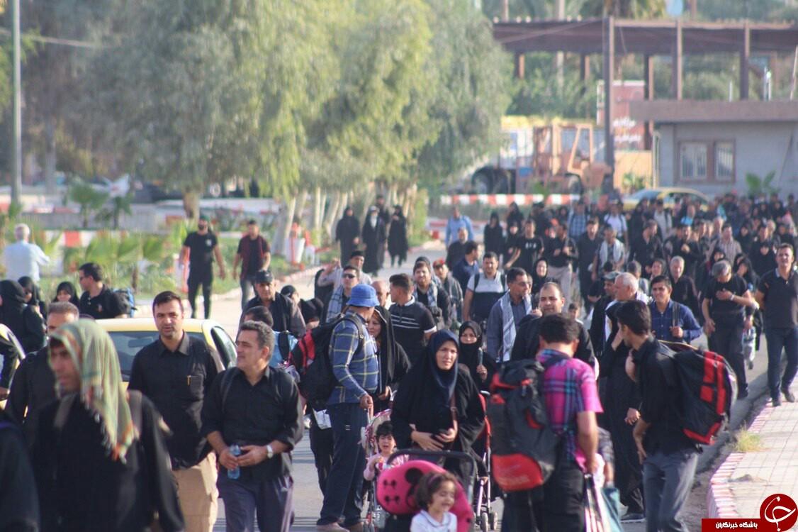 ۸ هزار و ۵۰۰ زائر  از مرز خسروی به  کربلای معلی مشرف شدند