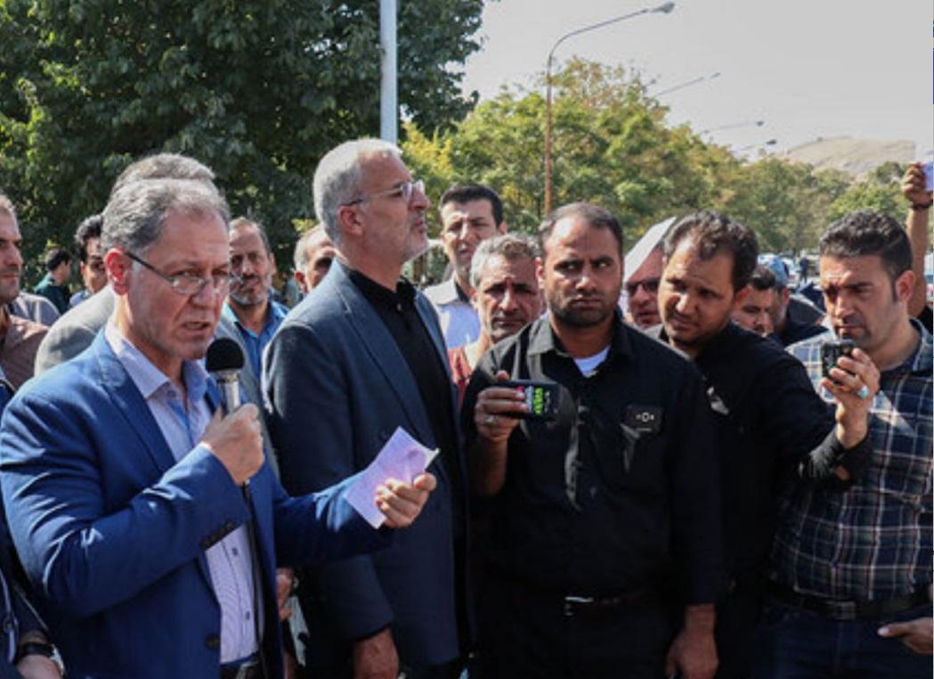 حضور نماینده وزیرکار در جمع کارگران شرکت آذرآب