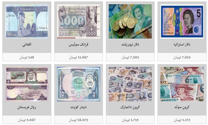 جزئیات نرخ ارز در ۹۸/۷/۱۸/ ۱۰۰ دینار عراق به قیمت یک هزار و ۵۰۰ تومان