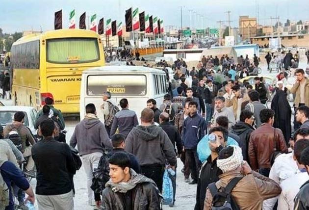 فعالیت چرخشی اتوبوسها در مرز مهران