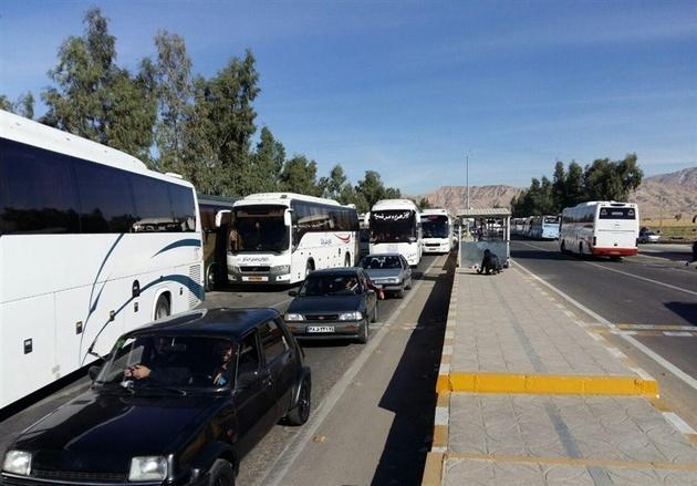 تردد بیش از ۱۶ هزار دستگاه اتوبوس و خودرو سواری از دهلران