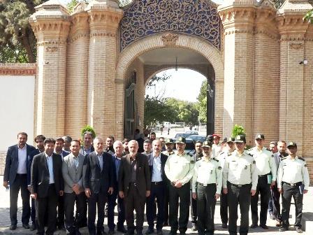 مراسم رونمایی از سر درب تاریخی پلیس آگاهی تهران بزرگ