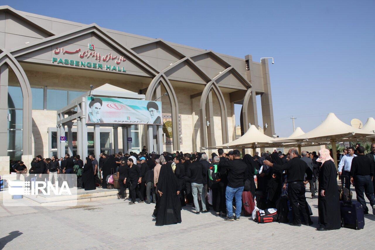 جدیدترین آمار از وضعیت تردد و تعداد زائران در مرز مهران + فیلم