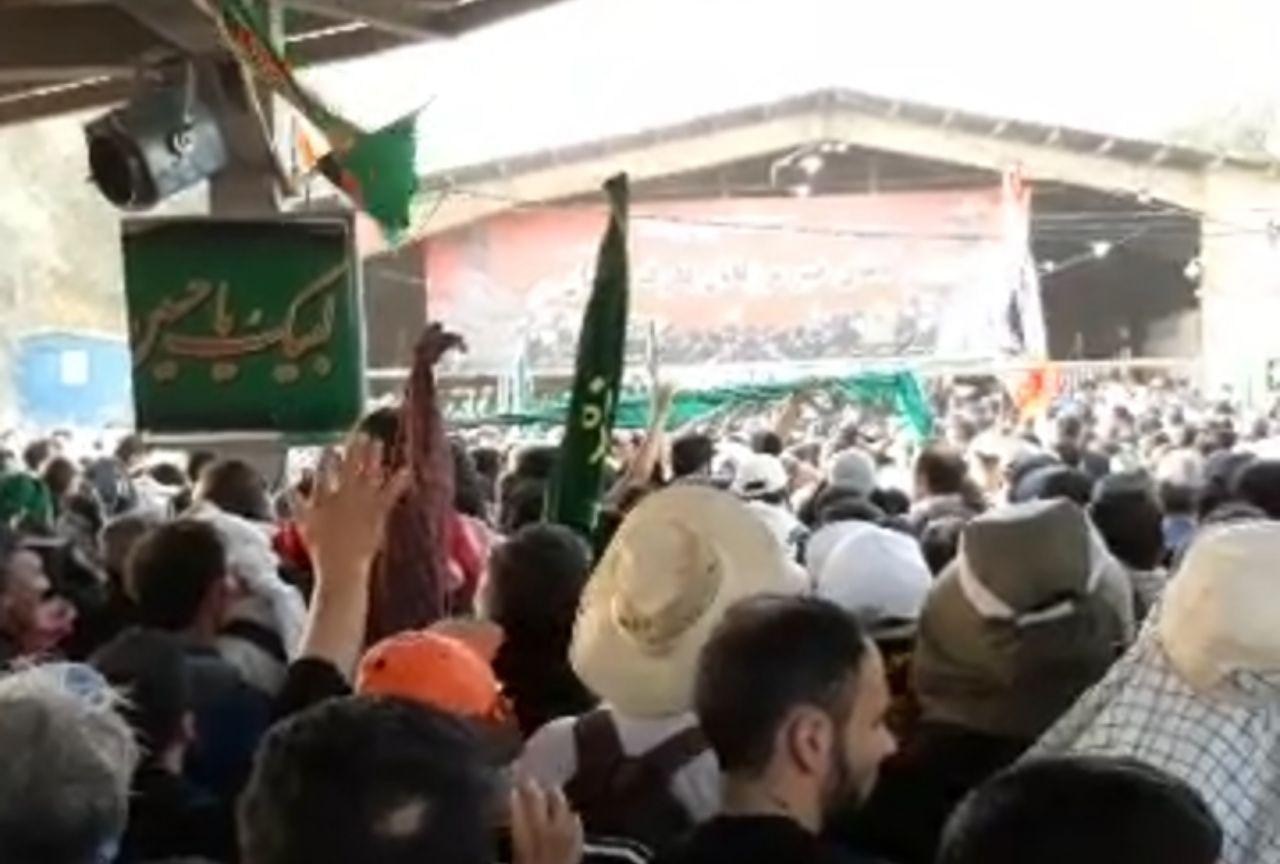 شور و اشتیاق زائران و طنین شعار لبیک یا حسین(ع) در مرز مهران + فیلم