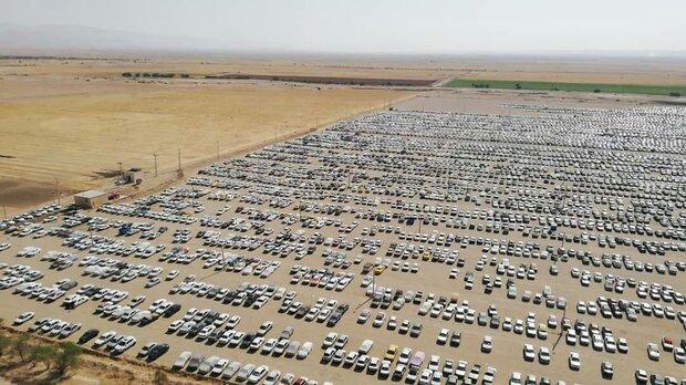 ظرفیت 52 هزار خودرویی پارکینگهای مرز خسروی/تاکنون ۱۰ هزار خودرو پارک شدند