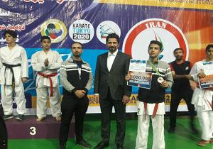 درخشش کاراته کای یزدی در لیگ کاراته وان کشور