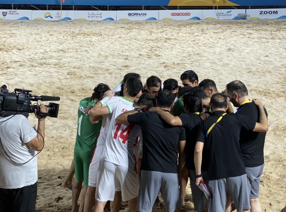 پیروزی ملی پوشان فوتبال ساحلی ایران مقابل اوکراین در گام نخست