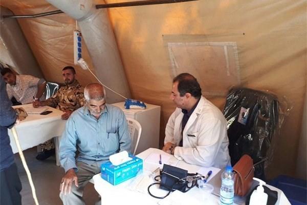 ارائه خدمات درمانی به زائران اربعین در ایلام