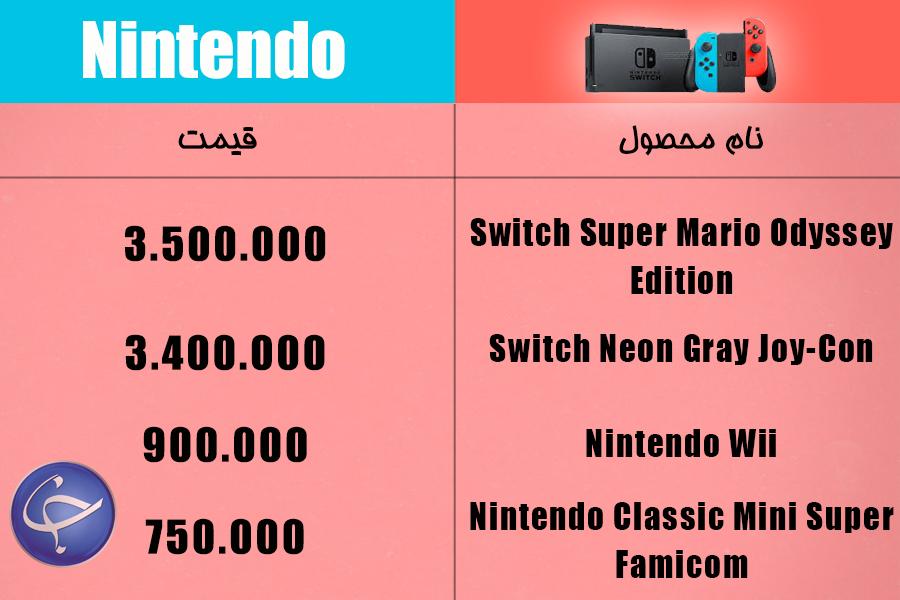 آخرین قیمت انواع کنسول بازی و لوازم جانبی آن در بازار (تاریخ ۳ مهر) +جدول
