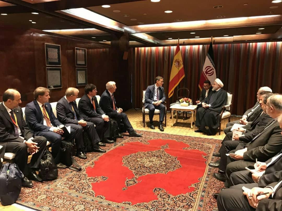 روحانی با نخست وزیر اسپانیا دیدار کرد
