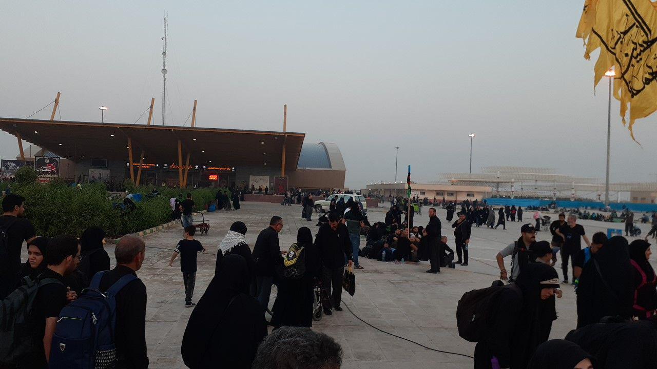 آخرین وضعیت مرز شلمچه برای تردد زائران اربعین+تصاویر