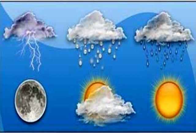 بارش باران همراه با رعد و برق در استان های ساحلی دریای خزر/آسمان پایتخت کمی ابری است