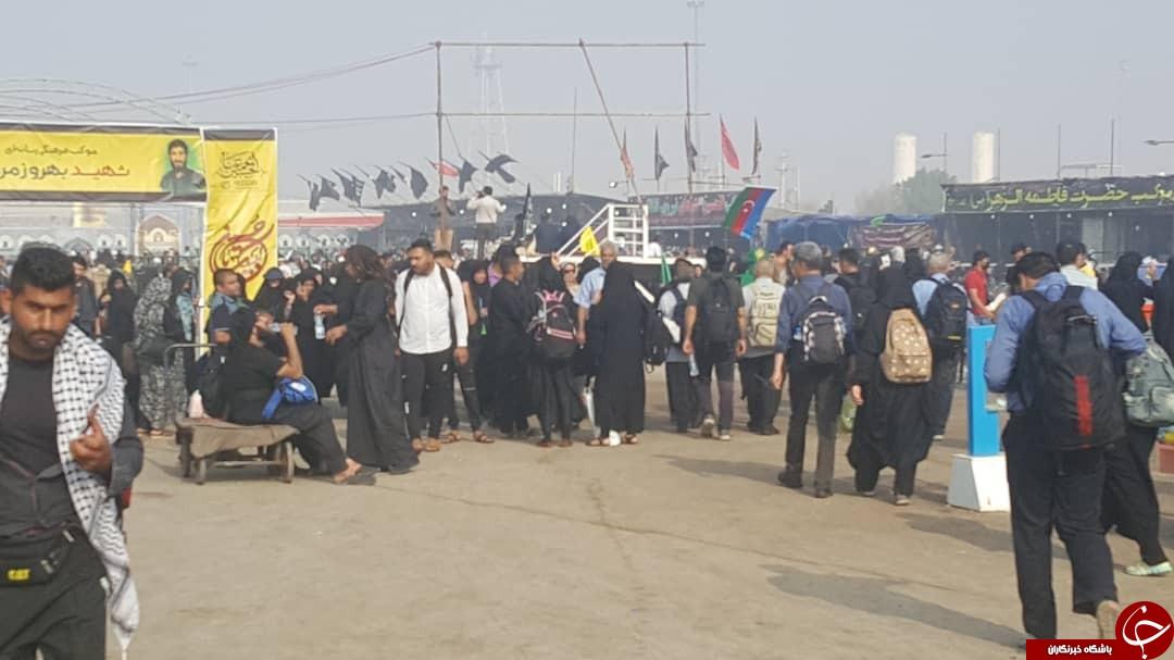 با زائران در مرز شلمچه و چذابه/ ارائه خدمات درمانی و اسکان در مواکب