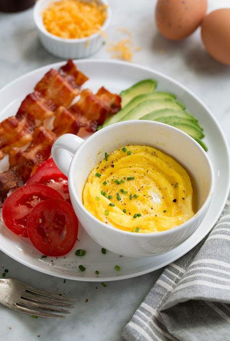 طرز تهیه اسکرامبل تخم مرغ در مایکروفر//ثباتی