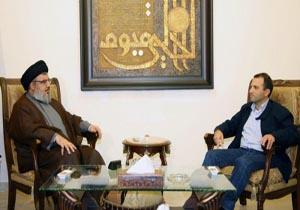 دیدار طولانی وزیر خارجه لبنان با سید حسن نصرالله