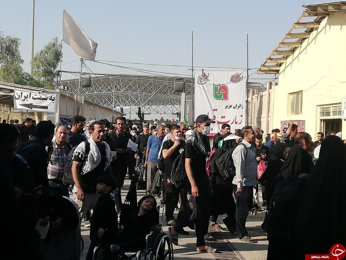 تردد پرشور زائران در مرز مهران + تصویر