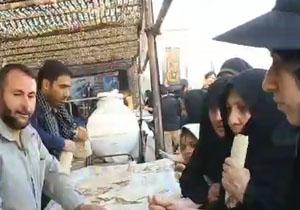 پذیرایی از زائران اربعین حسینی در مرز مهران + فیلم