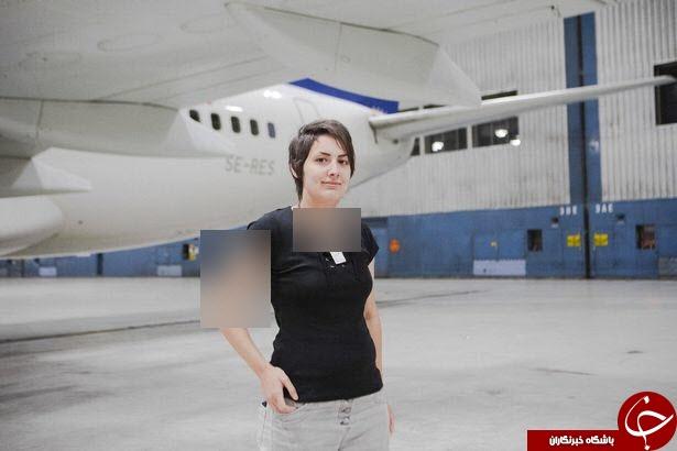 نامزدی زن جوان آلمانی با هواپیمای بوئینگ! + تصاویر