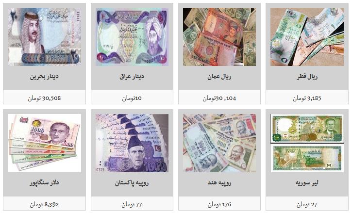 نرخ فروش ارز در بازار آزاد/ یک هزار دینار عراق به قیمت ۱۰ هزار و ۶۰۰ تومان