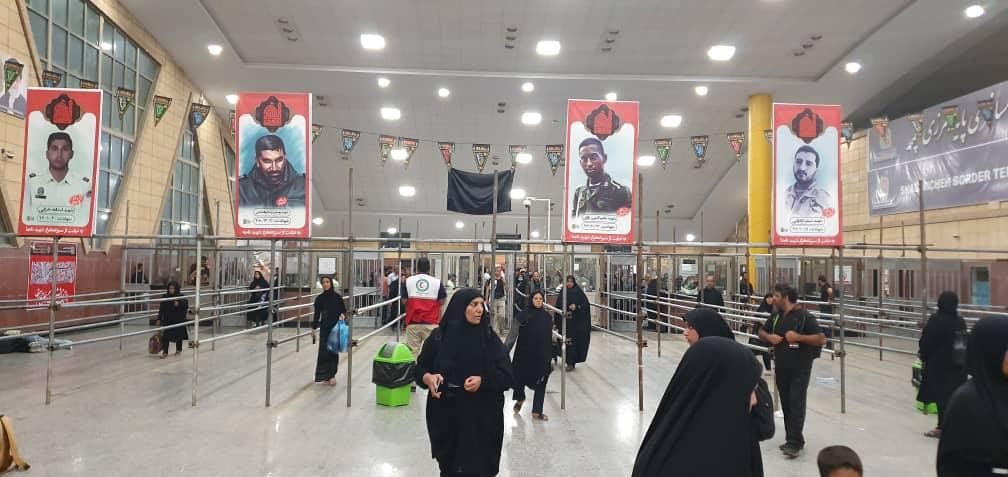 با زائران در مرز شلمچه و چذابه/ تردد در تمام محورهای خوزستان روان است +تصاویر