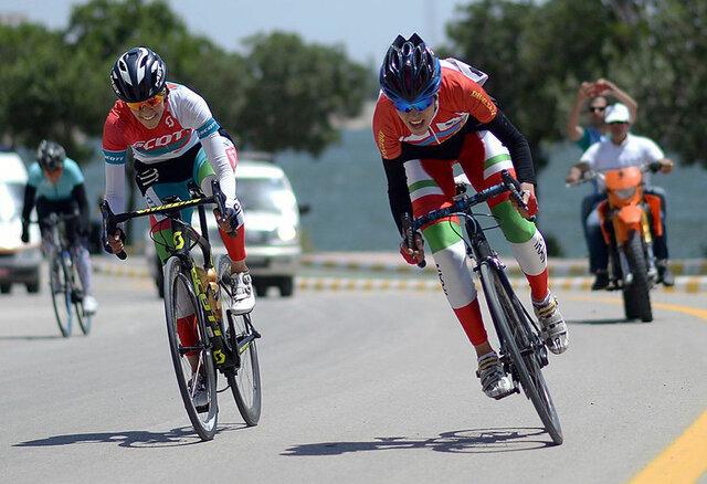 دوچرخه سوار زنجانی در راه  مسابقات آسیایی